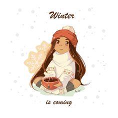 44 отметок «Нравится», 7 комментариев — @kavamava в Instagram: «Winter's coming #art #digitalart #illustration #doodle #sketch #instart #artistsoninstagram #girl…»