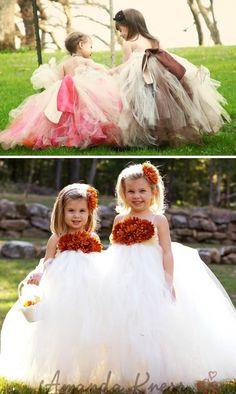 Vestidos de tul para las niñas de las flores   Diario de Bodas