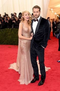 2014 #MetGala Fashion: Blake Lively in Gucci and Ryan Reynolds
