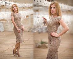 Роскошное платье крючком. Схемы