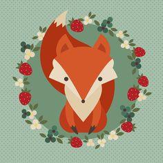 cute fox illustration - Pesquisa Google