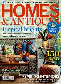 Tropical brights Gefunden in: HOMES + ANTIQUES Nr. 08/2014