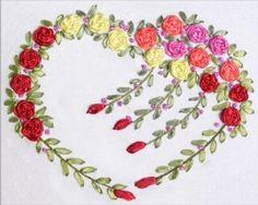 embroidered alphabets with ribbon embroidery - Szukaj w Google