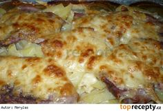 Kotlety na smetaně Lasagna, Pork, Food And Drink, Pizza, Cheese, Cooking, Ethnic Recipes, Kale Stir Fry, Kitchen