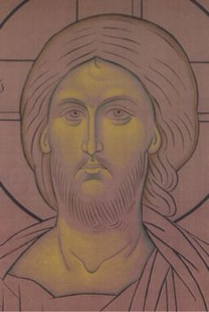 Byzantine Icons, Byzantine Art, Sketch Icon, Sketches, Seascape Paintings, Landscape Paintings, Christian Drawings, Christ Pantocrator, Face Icon