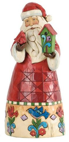 Jim Shore for Enesco Heartwood Creek Santa with Birdhouse Figurine 9Inch * You can get additional details at the image link.
