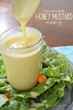 Update since pin...I love this dressing! I've made it numerous times since I have pinned it. So much better than store bought..... Homemade Honey Mustard Dressing - we were having chicken tenders tonight & I forgot to get HM dressing at the store. So of course I looked up a recipe on Pinterest and found this one. It is so simple and very good!!!! The kids loved it too. I made a half batch just in case and it ws plenty for dinner and enough for leftovers.