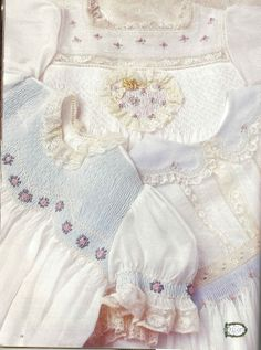 Shadow Smocking How-to  (pastel fabric behind lighter sheer fabric creates color effect)