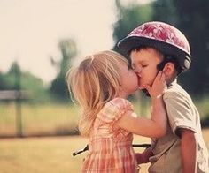 cute little kids kissing <3