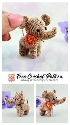 Free Crochet Elephant Pattern & many amigurumi elephant idea... Crochet Elephant Pattern, Crochet Motif, Free Crochet, Crochet Patterns, Crochet Hats, Step By Step Crochet, Learn To Crochet, Ballerina, Free Pattern