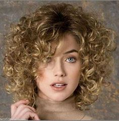 Cos Brown Blonde Mix Short Curly Cosplay WIG