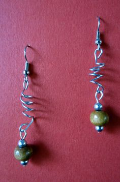 Whimsical Wood Bead Earrings by designsbypbe on Etsy, $10.00
