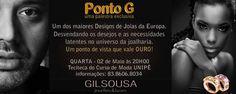 PALESTRA Ponto G com o designer de jóias Gil Sousa