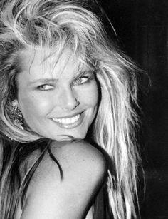 Throwback to the 80's!  Stunner Christie Brinkley - one of the first models to merit the term 'super' - proves that knockout looks don't guarantee happiness in love...