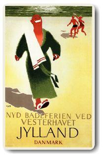 "Viggo Vagnby ""Nyd Badeferien Ved Veserhavet JYLLAND DANMARK"""