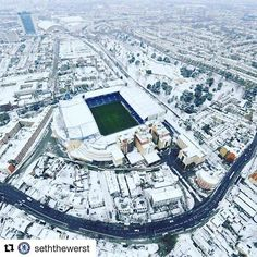 Stamford Bridge in winter