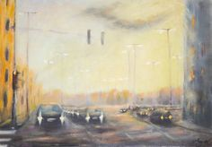 In morning traffic 35 x 50 cm // 13.7 x 19.6 inches Oil on fiberboard Available