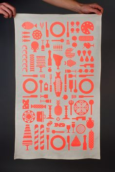 Maddison Graphic. A tea towel as Christmas card.