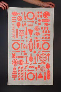 Maddison Graphic. A tea towel as Christmas card.