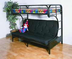 Beds For Kids Twin Over Futon Metal Black