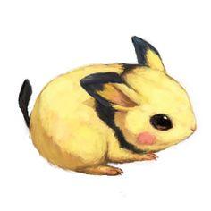 Pichu by totoまめ Pichu Pikachu Raichu, Pokemon Realistic, Pokemon Fan Art, Pokemon Pokemon, Cute Animal Photos, Creative Artwork, Manga Pictures, Cute Animals, Creatures