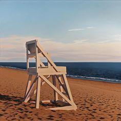 Jim Holland - Present), American Artist - Sunrise Sentinel - 36 x 36 Landscape Paintings, Beach Paintings, Landscapes, Georges Seurat, Edward Hopper, Living In New York, Mood, Pastel, Fantasy Landscape