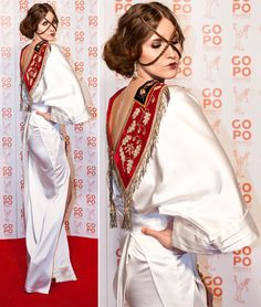 Iulia Albu at gopo 2012 Eccentric Style, Inverted Triangle, Dress Me Up, Cool Pictures, Awards, Sari, Elegant, Egypt, Inspiration