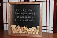 Hey, I found this really awesome Etsy listing at https://www.etsy.com/listing/204511417/walnut-wine-cork-shadow-box-friendship