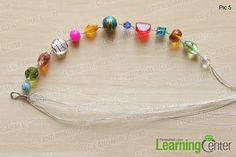string beads on each 5 wire strands