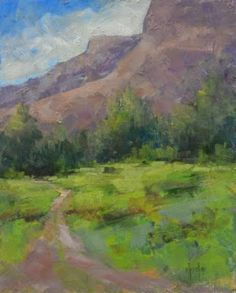 """Contemporary Artists of Colorado: """"Heading Into Canyon Country"""" Original Oil Landscape Painting by Western Colorado Artist Barbara Churchley..."""