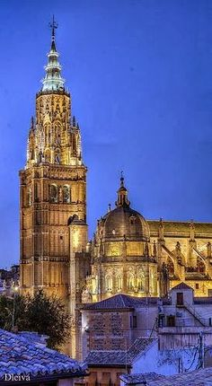 Torre de la Catedral de Toledo, Spain. . http://photosearth.com/Spain.html