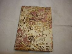 Vintage  notebook/journal with silk cover by UnnaVintage on Etsy, $15.00