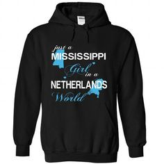 WorldBlue Mississippi-Netherlands Girl - #chambray shirt #sweater storage. LIMITED TIME PRICE => https://www.sunfrog.com//WorldBlue-Mississippi-Netherlands-Girl-9145-Black-Hoodie.html?68278