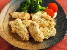 鶏むね肉のマヨネーズフライ 、 オーブントースターで作る「油で揚げないフライ」|魚料理と簡単レシピ