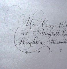 Address Envelopes in Calligraphy por DamnGoodCalligraphy en Etsy