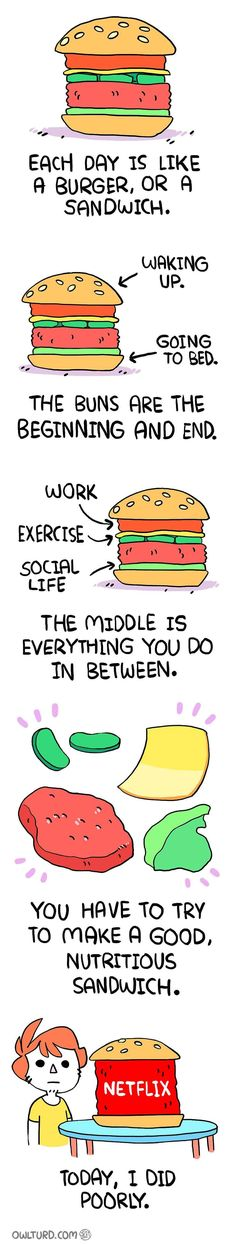 Everyday is like a burger