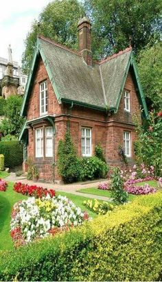 Victorian-era jewel in the lowlands of Scotland, near Edinburgh. Striking Victorian-era jewel in the lowlands of Scotland, near Edinburgh. -Striking Victorian-era jewel in the lowlands of Scotland, near Edinburgh. Fairytale Cottage, Storybook Cottage, Garden Cottage, This Old House, Cute House, Cute Cottage, Cottage Style, Old Cottage, Cottage Farmhouse