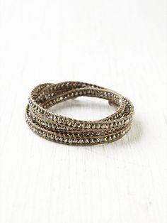 Free People Pyrite Wrap Bracelet, $248.00