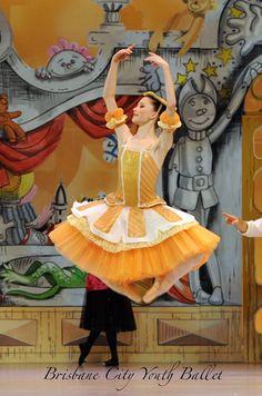 Ballet dancer. Katie dancing as the sweet Citrus Fizz in Brisbane City Youths Ballets production.. The Magic Toyshop.