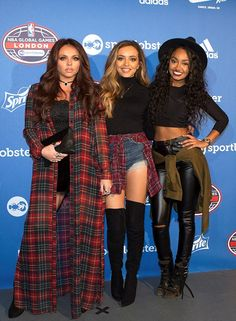 Salute: Little Mix stars Jesy Nelson, Leigh-Anne Pinnock and Jade Thirlwall were once again happy to show off their unique styles as they attended the NBA Global Game match in London on Thursday evening