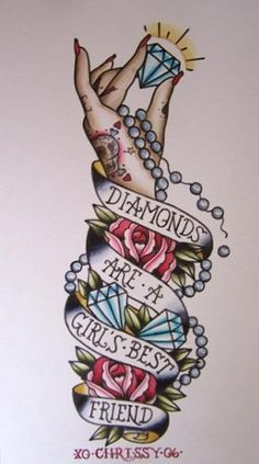 Diamonds tattoo flash
