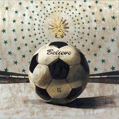 Jose Luis Ferragut - Believe Ball - 2012, oil on stainless steel canvas. 100 X 100 CM.