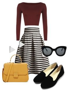 50s fashion by soltys-dagmara on Polyvore featuring moda, WearAll, Rumour London, Jennifer Meyer Jewelry and CÉLINE