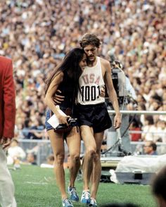 "5,951 Likes, 21 Comments - Sports Illustrated (@sportsillustrated) on Instagram: ""1972 Summer Olympics. Kenny Moore  with wife Bobbie after Marathon at Munich Olympiastadion. Moore…"""