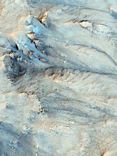Gully walls, Mars. Image via HiRISE