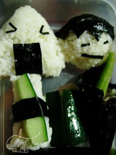Happy Onigiri Lunch Box Grubs, Sushi, Lunch Box, Cooking, Ethnic Recipes, Happy, Food, Kitchen, Essen