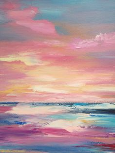 Seascape oil painting on canvas colorful modern painting sea pink palette knife pastose painting abstract . - Seascape oil painting on canvas colorful modern painting sea pink palette knife pastose painting ab - Pink Painting, Oil Painting Abstract, Abstract Canvas, Acrylic Painting Canvas, Canvas Canvas, Painting Art, Simple Oil Painting, Modern Oil Painting, Painting Lessons