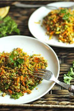 Detox Quinoa Lentil Salad with a Lemon Hemp Dressing | thefreshdirection.com