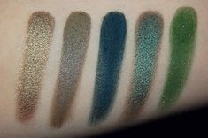 Pretty As A Junebug: Inglot Cosmetics: Swatch Fest! *** Pearl 419, DS 471, Matte 340, Pearl 414, AMC S 57