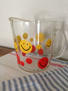 1970s Beverage Pitcher with Smiley Faces. $28.00, via Etsy.